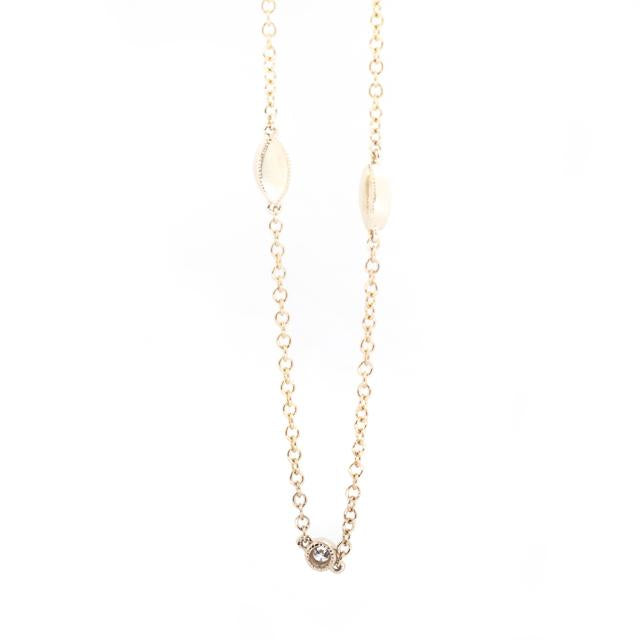 diamond station necklace with vintage look