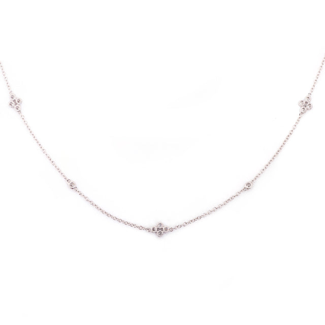 Diamond Strand Necklace Antique Milgrain