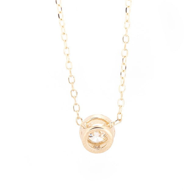 Dainty Round Diamond Necklace
