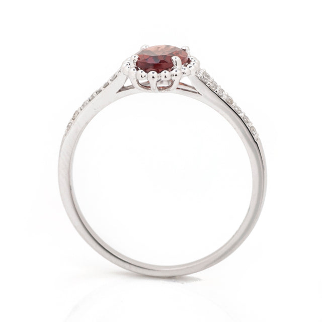 Antique Garnet and Diamond Pave Ring