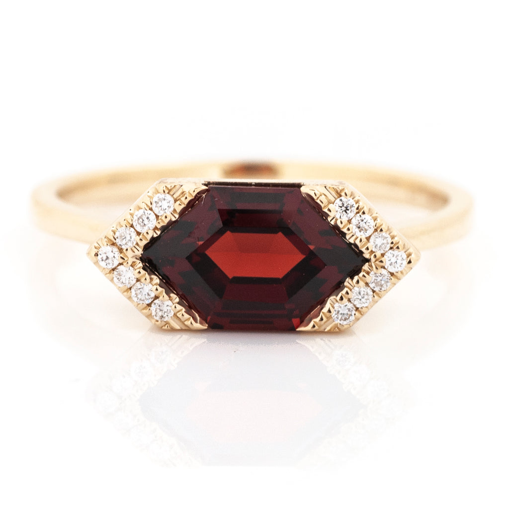 Annabeth Fancy-Cut Color Stone and Diamond Ring