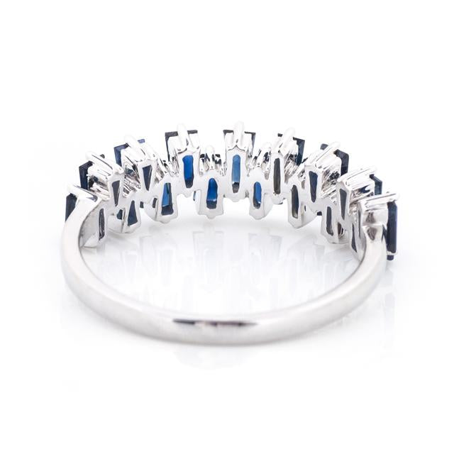Scattered Baguette Blue Sapphire Ring