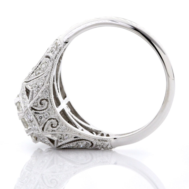 White Diamond Illusion Vintage Ring