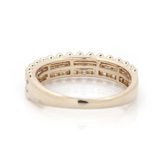 Diamond Wide Stacking Ring