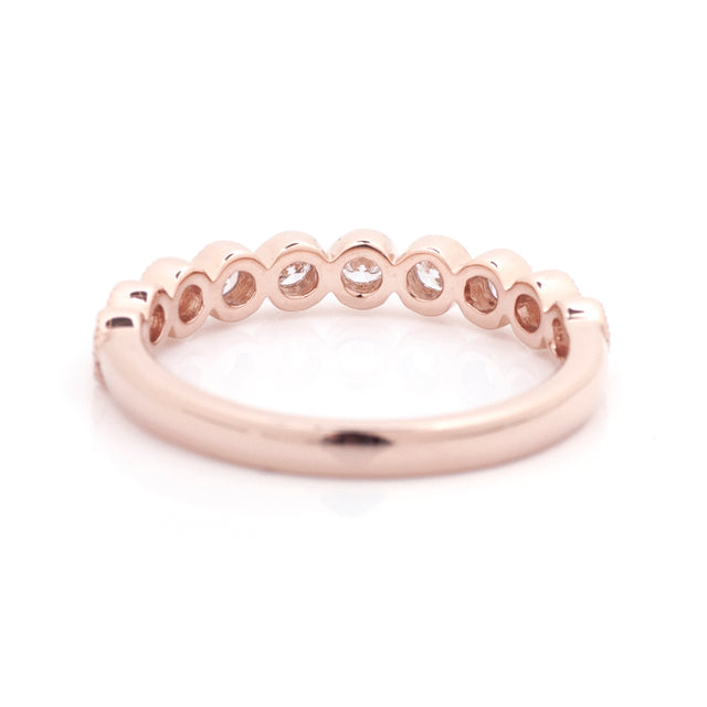 Diamond bezel stacking ring