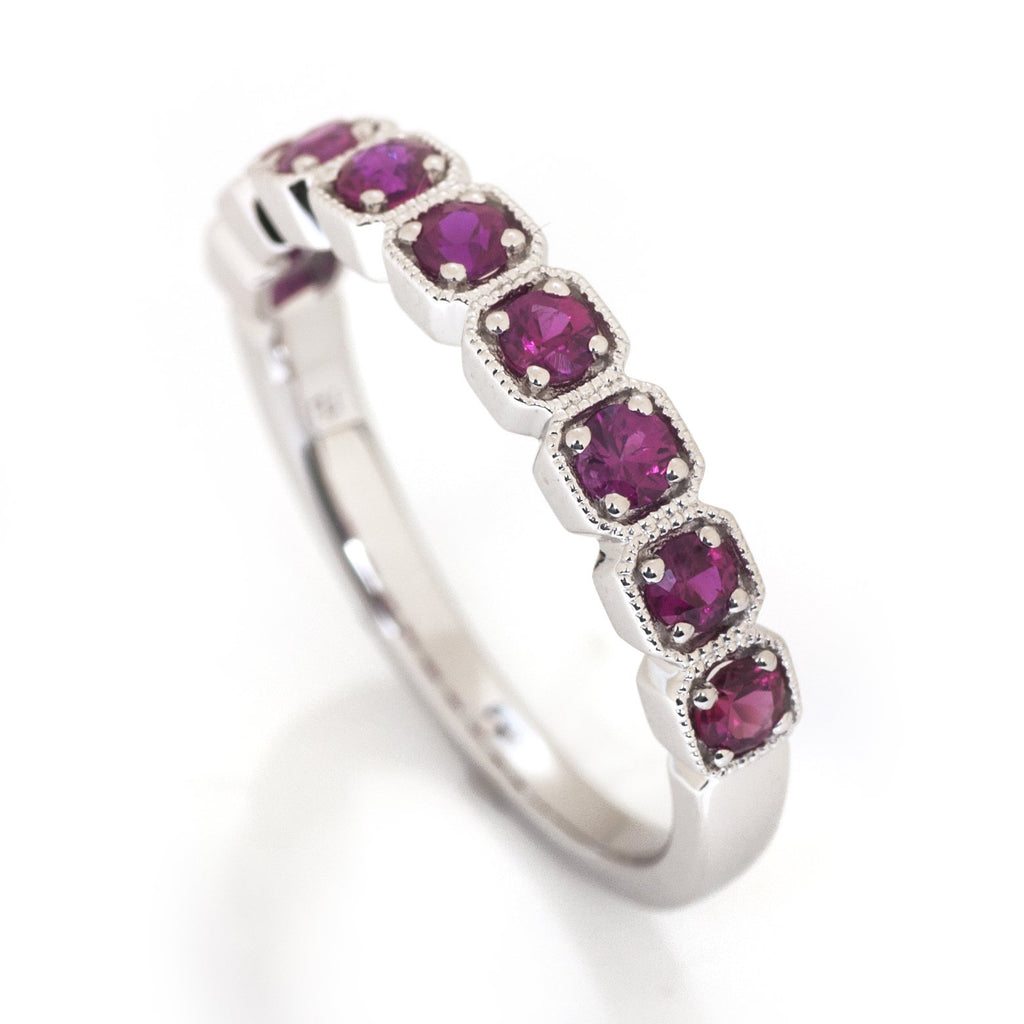 Ruby Antique Stacking Ring