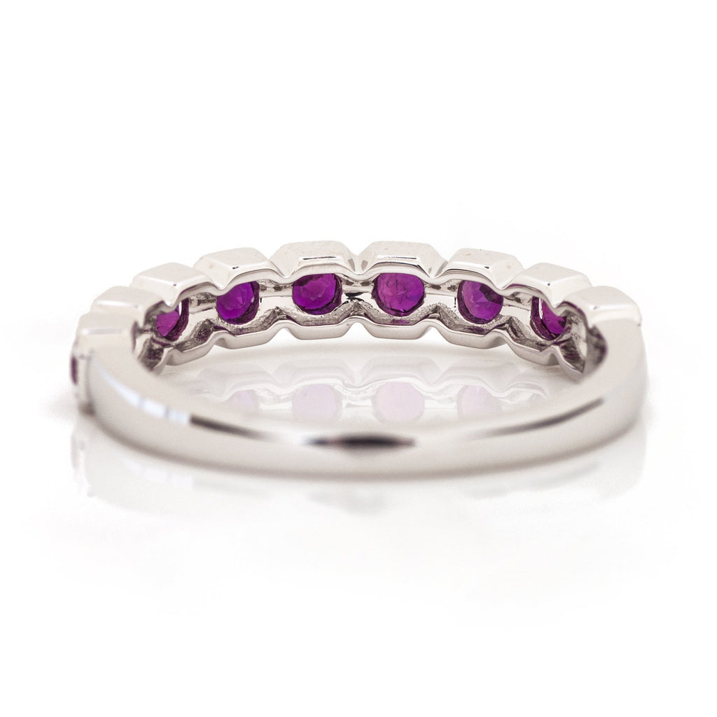 Ruby Milgrain Stackable Ring