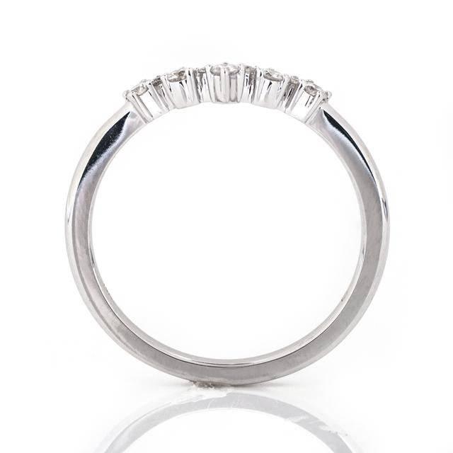 Curved Diamond Stackable Ring