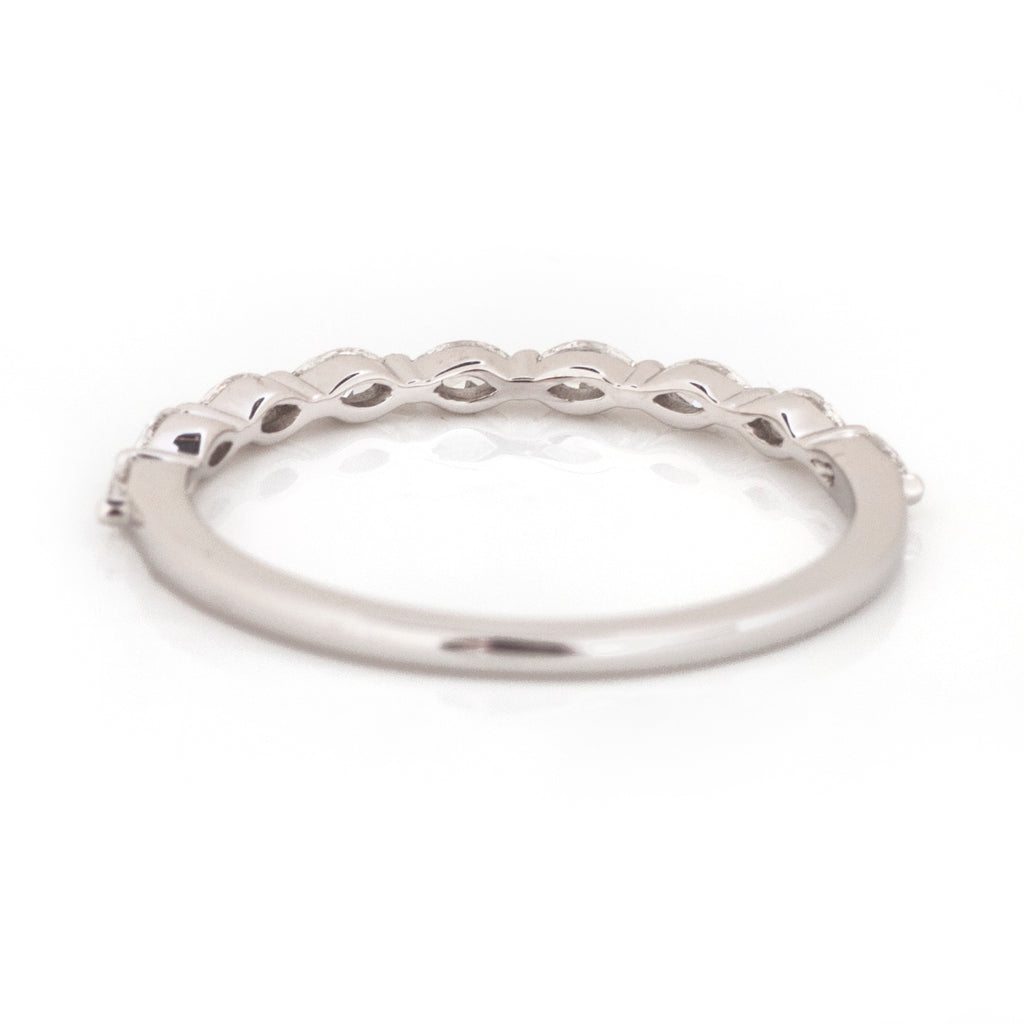 Annabeth East-West Marquis Stacking Ring