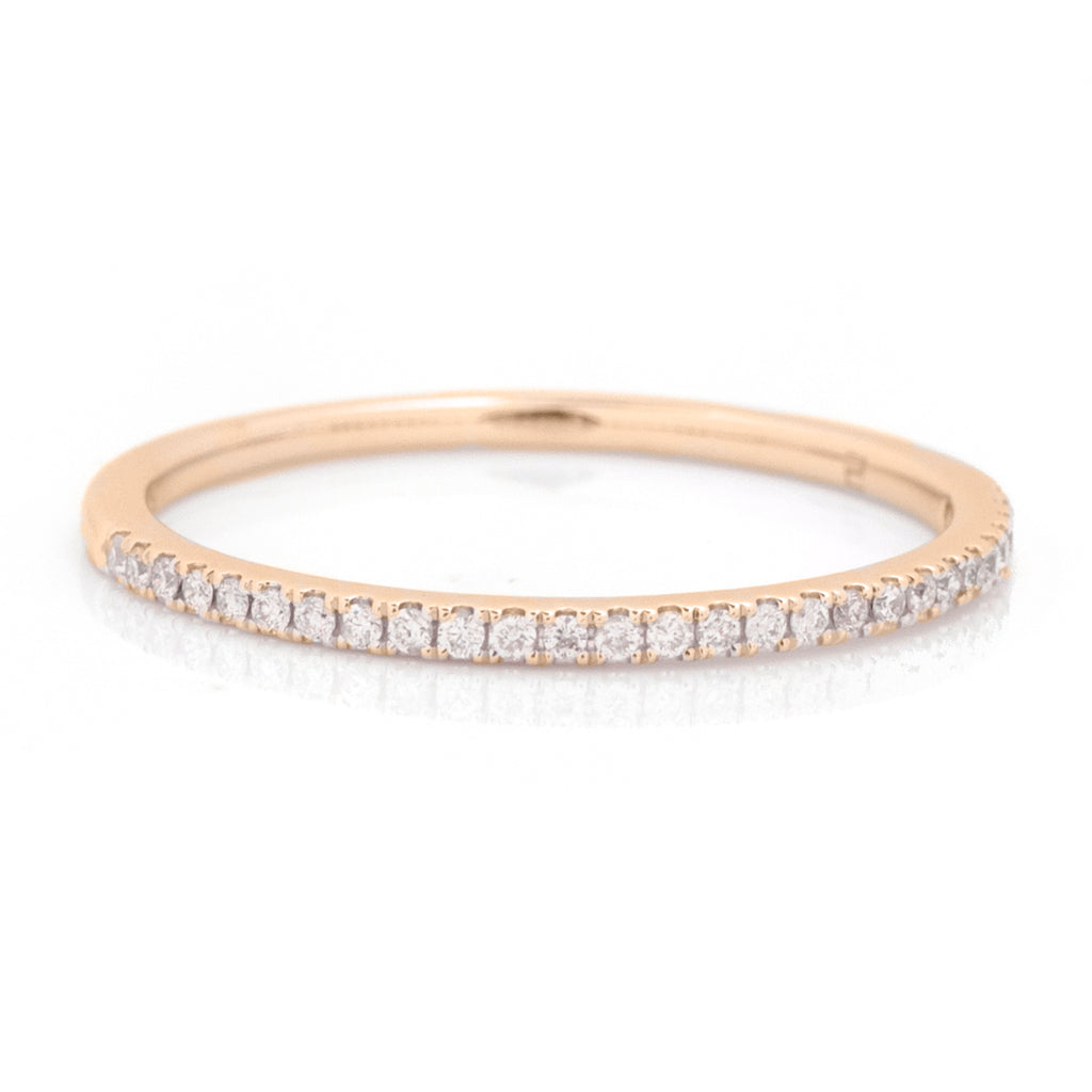 Carlisle Half-Eternity Diamond Stacking Band - 1/10ct