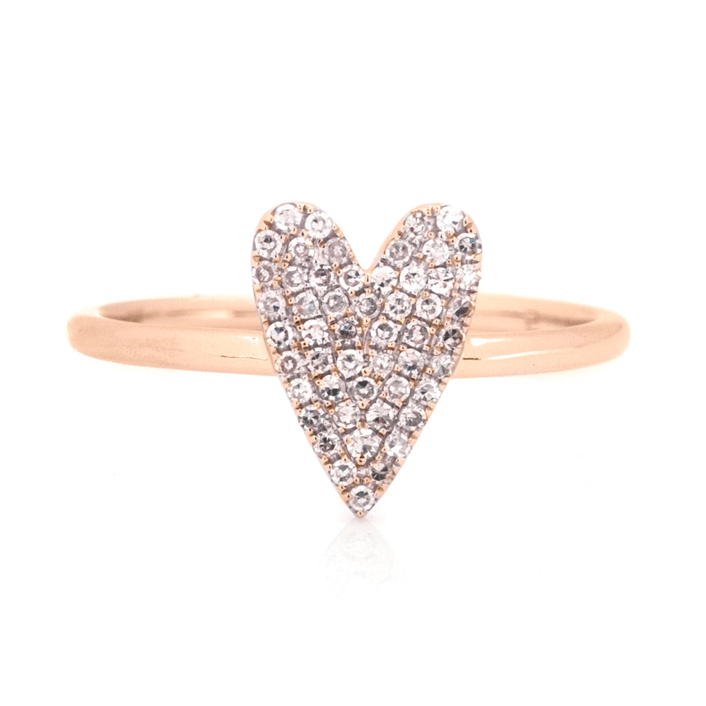 Annabeth Elongated Heart Pave Diamond Cocktail Ring