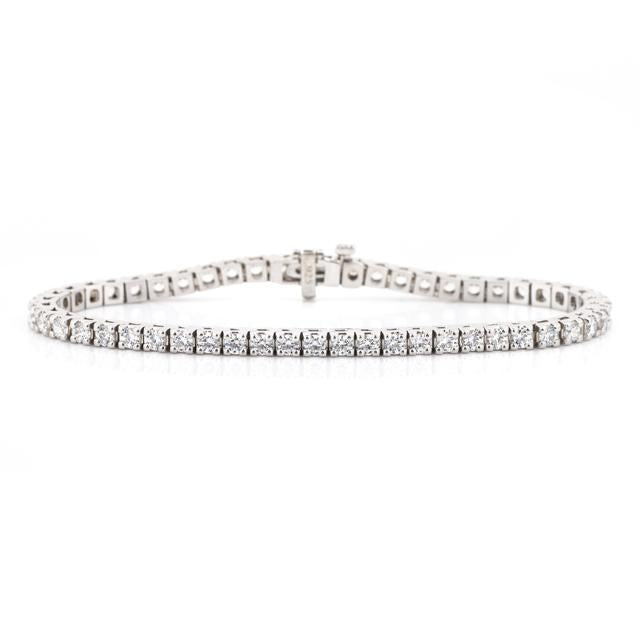 4 carat diamond tennis bracelet 14k white gold