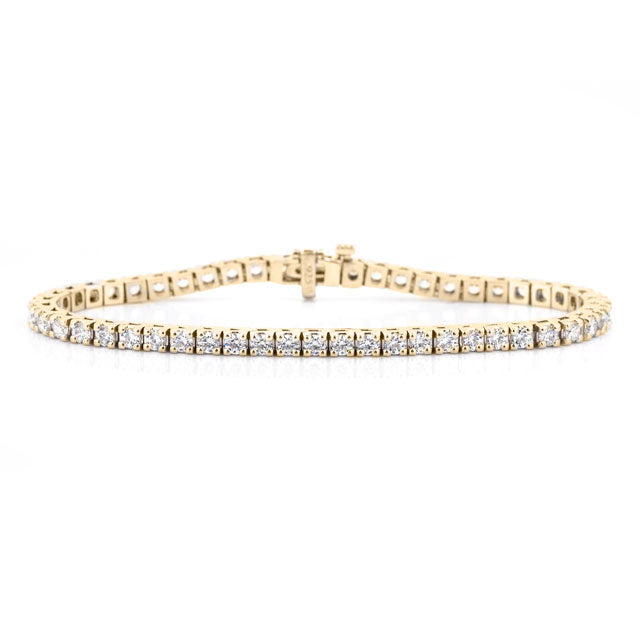 4 carat diamond tennis bracelet 14k yellow gold