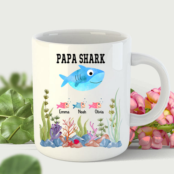 Papa Shark | Personalized Mug - Pofily