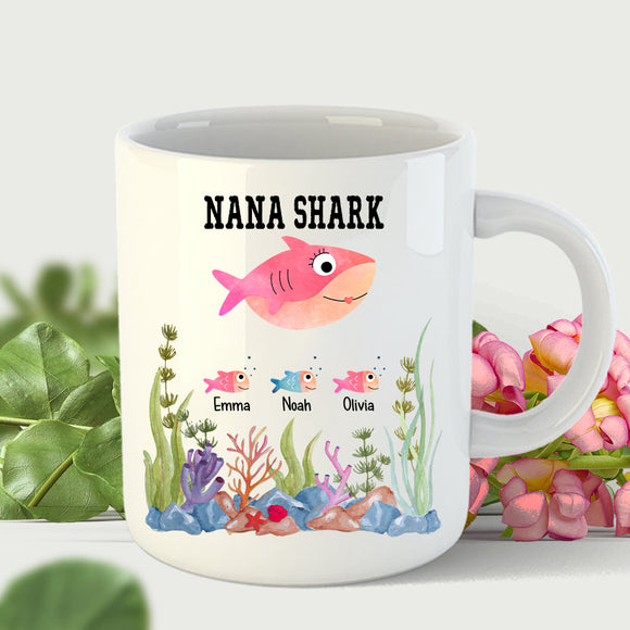 Nana Shark | Personalized Mug - Pofily