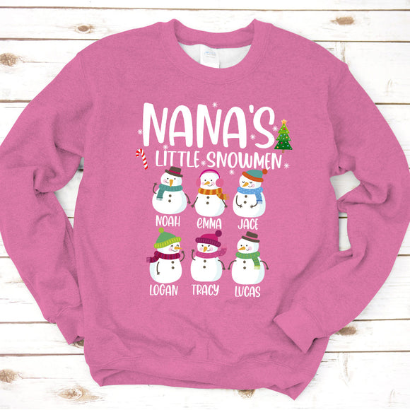 Nana's Little Snowmen | Personalized Sweatshirt