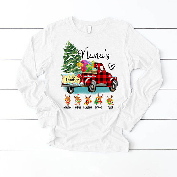 Christmas - Nana's little reindeer | Long Sleeve T-Shirt