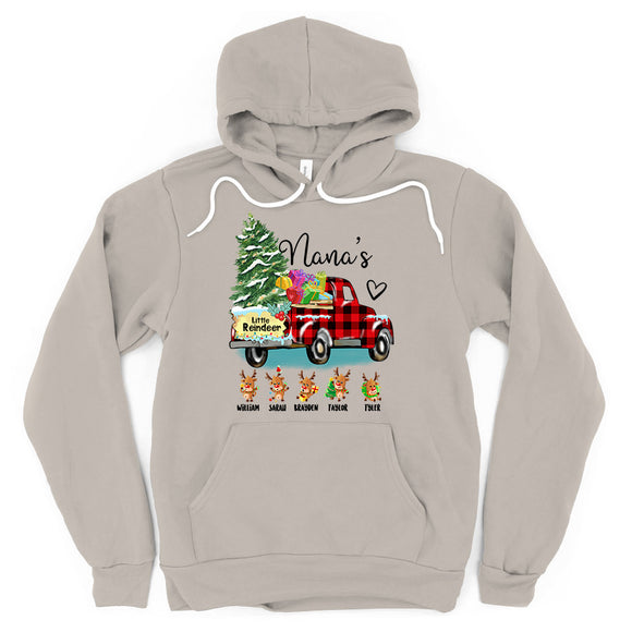 Christmas - Nana's little reindeer | Personalized Hoodie
