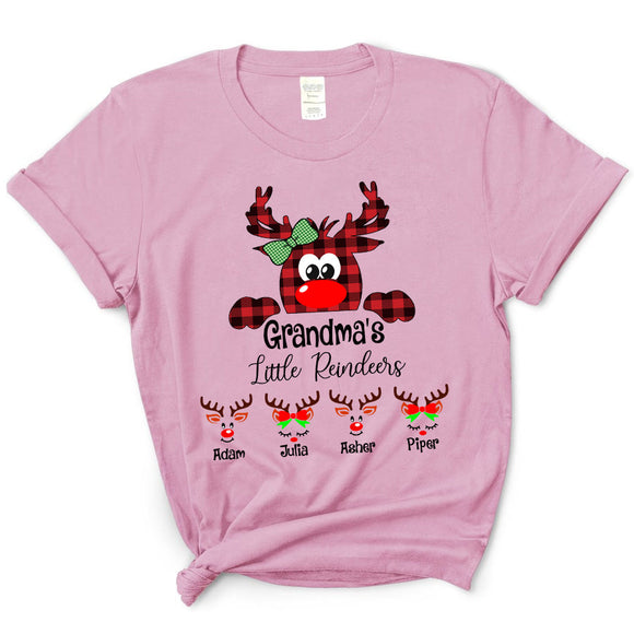 Grandma's Little Reindeer - Christmas | Personalized T-Shirt