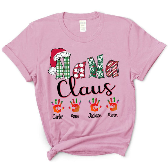 Nana claus art - Christmas | Personalized T-Shirt