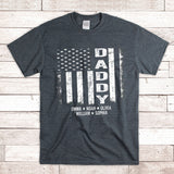 American Flag Daddy | Personalized T-Shirt - Pofily