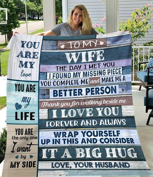 Gift For Wife-You Are My Love,You Are My Life-Love Your Husband Blanket