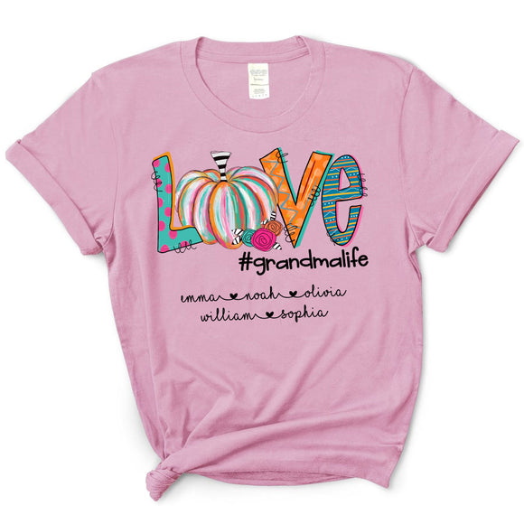 Pumpkin Love Grandmalife | Personalized T-Shirt