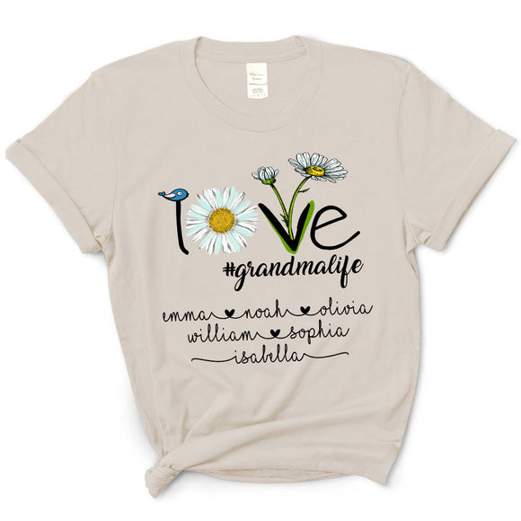 Daisy - Love Grandmalife | Personalized T-shirt - Pofily