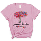 Tree Grandma's Blessings | Personalized T-shirt - Pofily