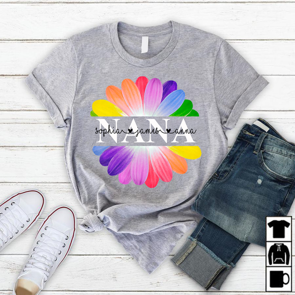 Nana Flower Art | Personalized T-shirt - Pofily