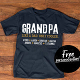 Personalized: Grandpa Like A Dad - Only Cooler - Pofily