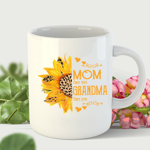 MOM GRANDMA SINCE SUNFLOWER