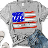 Mimi - Red White Blue - Flag | Personalized T-shirt - Pofily