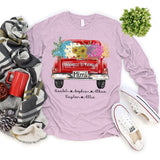 Happiness Is Being A Mimi - Truck Flowers | Long Sleeve T-Shirt
