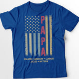 American flag - Papa | Personalized T-Shirt - Pofily