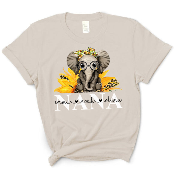 Cute Elephant - Nana | Personalized T-shirt - Pofily