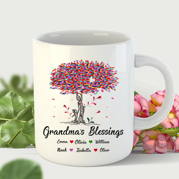 Tree Grandma's Blessings | Personalized Mug - Pofily