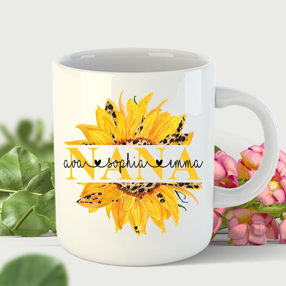 Nana Sunflower | Personalized Mug - Pofily