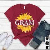 Gram Sunflower | Personalized T-Shirt - Pofily