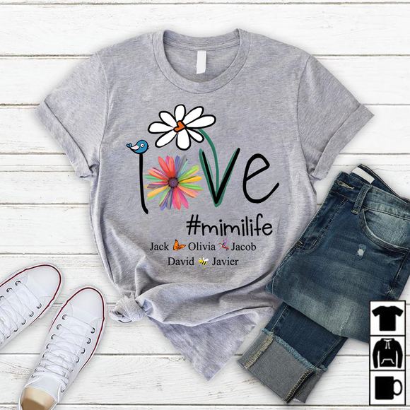 Personalized Love Mimi Life T Shirt - Pofily