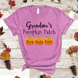 Grandma's Pumpkin Patch - Thanksgiving | Personalized T-shirt