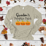 Grandma's Pumpkin Patch | Personalized Long Sleeve T-Shirt