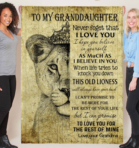 Gift For Granddaughter-The Rest Of Mime Lion Art-Love Grandma Personalized Blanket