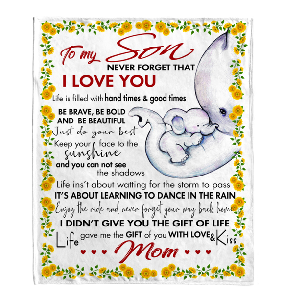 Gift For Son-Never Forget That I Love You-Personalized Mom Blanket