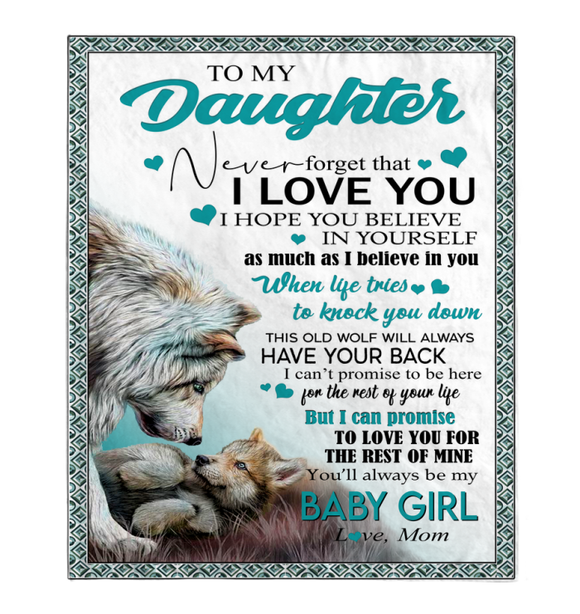 Gift For Daughter-Never Forget That I Love You Love Mom Blanket