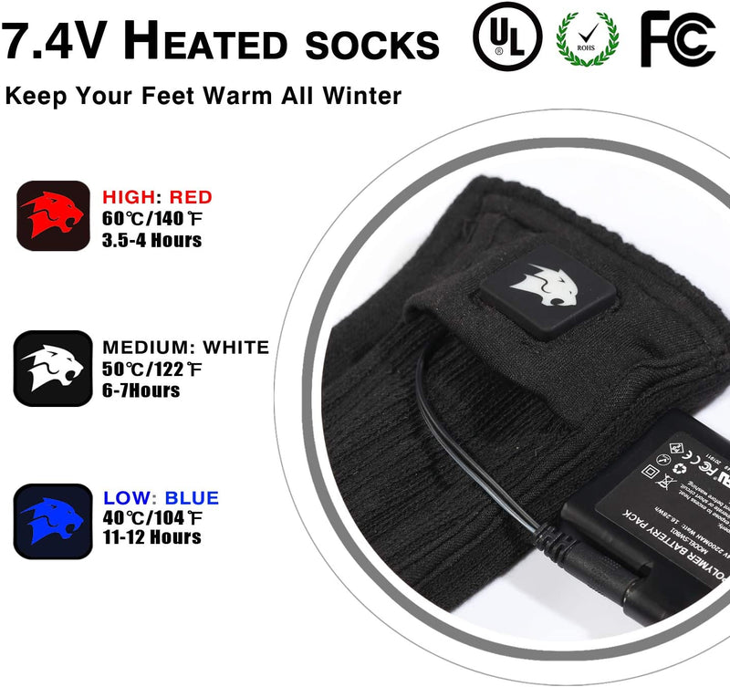 Heated Socks SMS04 | Smilodon
