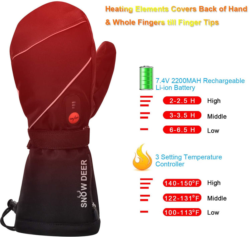 Heated Gloves SD30 | Snow Deer