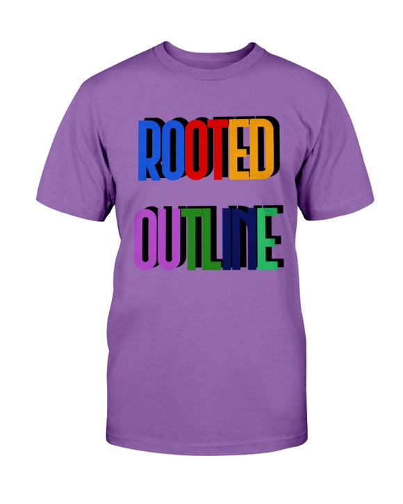 Color Block Unisex Tee - Rooted Outline Co.