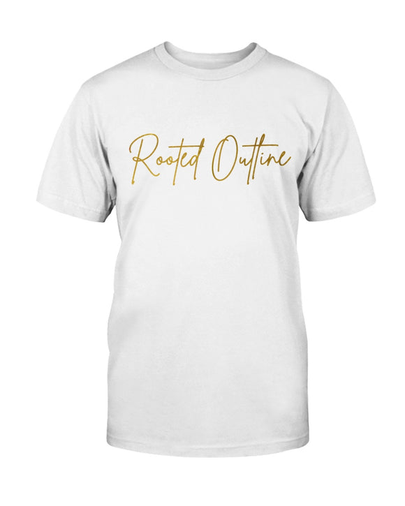Gold Signature Unisex Tee - Rooted Outline Co.