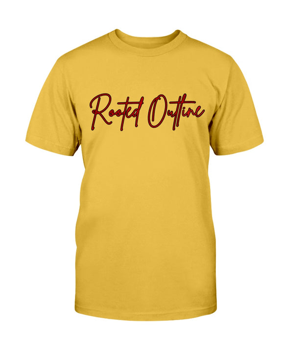 Red Signature Unisex Tee - Rooted Outline Co.